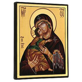 Icona Madonna Tenerezza Vladimirskaja 24x18 cm Romania dipinta s3