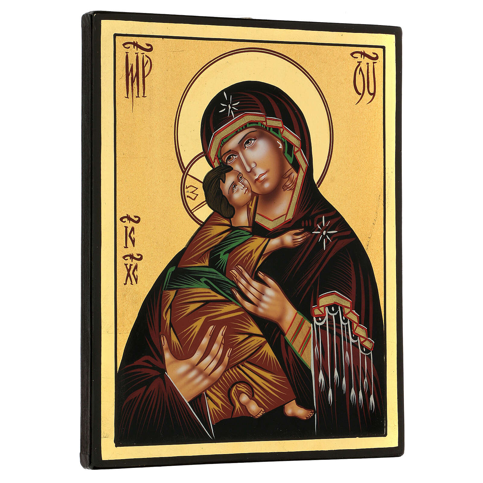 Lady of Vladimirskaya icon, 24x18 cm painted Romania 4