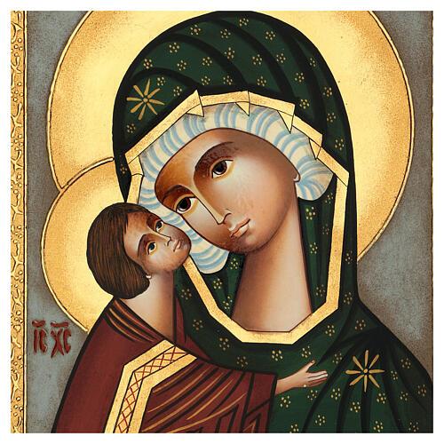 Icona Madre di Dio Donskaja dipinta Romania 30x25 cm 2