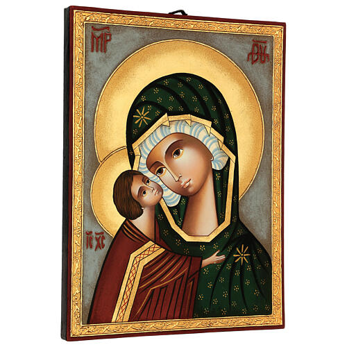 Our Lady of the Don icon, painted in Romania 30x25 cm 3