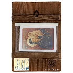 Icona Madre di Dio con Bambino Romania sfondo oro dipinta a mano 30x20 cm s4