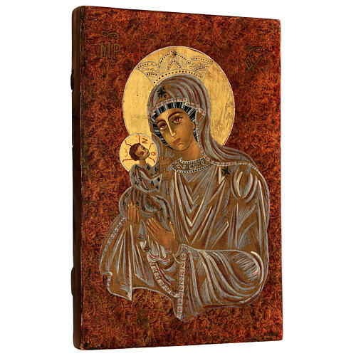 Icône Mère de Dieu Muromskaya Roumanie peinte à la main 30x20 cm 3