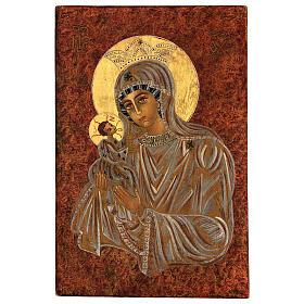 Icona Madre di Dio Muromskaja Romania dipinta a mano 30x20 cm s1