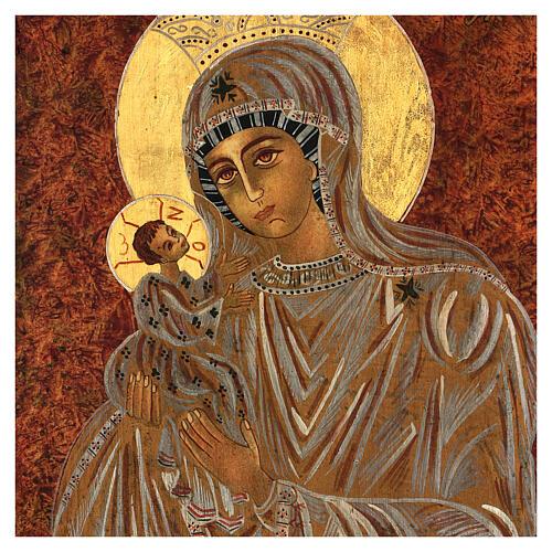 Icona Madre di Dio Muromskaja Romania dipinta a mano 30x20 cm 2