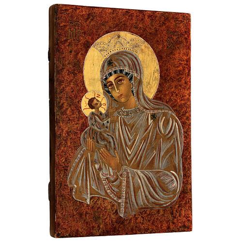 Icona Madre di Dio Muromskaja Romania dipinta a mano 30x20 cm 3