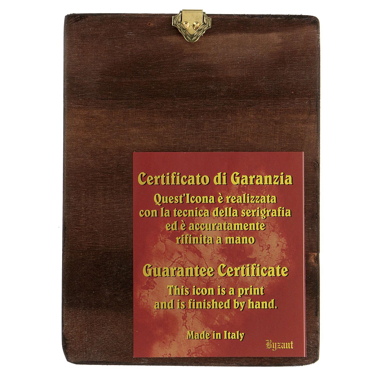Icona San Giuseppe fondo oro 14X10  cm giglio serigrafata 4