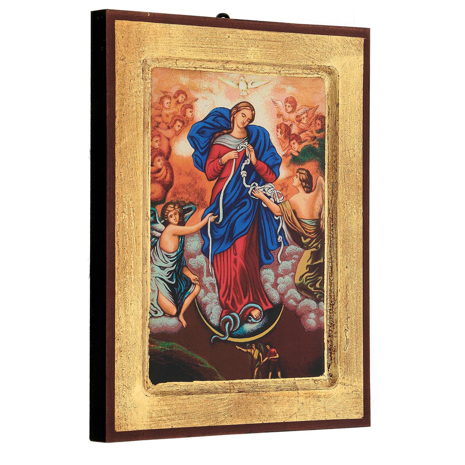 Icona stampa Grecia Maria scioglie nodi cornice 24X18 cm 4