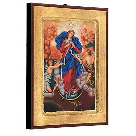 Icona stampa Grecia Maria scioglie nodi cornice 24X18 cm s3