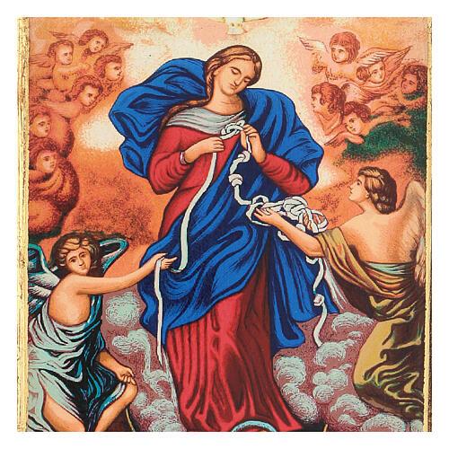 Icona stampa Grecia Maria scioglie nodi cornice 24X18 cm 2