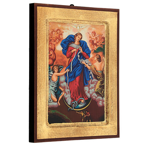 Icona stampa Grecia Maria scioglie nodi cornice 24X18 cm 3