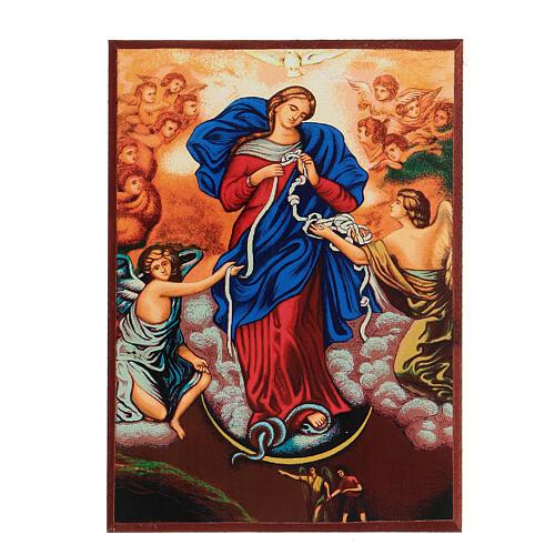 Icona stampa Grecia Maria scioglie nodi cornice 24X18 cm 6