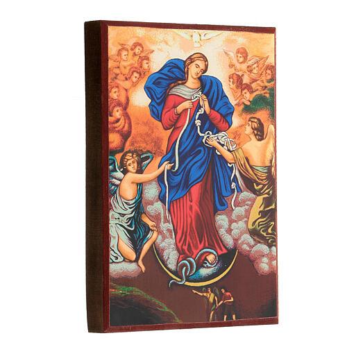 Icona stampa Grecia Maria scioglie nodi cornice 24X18 cm 8