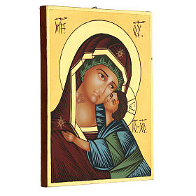 Icona Madre di Dio Vladimirskaja rumena dipinta a mano 24x18 s3