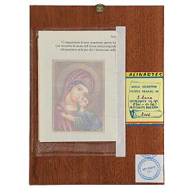 Icona Madre di Dio Vladimirskaja rumena dipinta a mano 24x18 s4