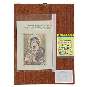 Icona Madre di Dio Donskaja Romania dipinta 24x18 cm s4