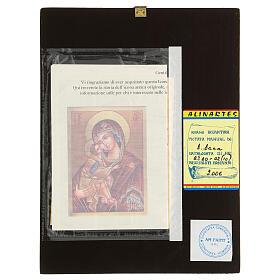 Icona Madre di Dio Donskaja rumena dipinta a mano 24x18 s4