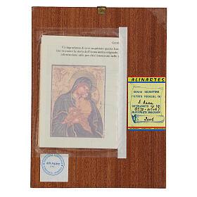 Icona Madre di Dio Jaroslavskaja rumena dipinta a mano 24x18 s4