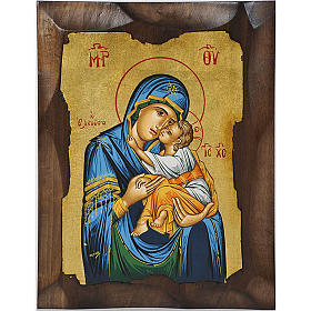 Icona Vergine della Tenerezza Eleousa Grecia s1