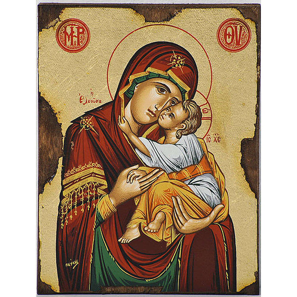 Icona Vergine della Tenerezza Eleousa greca 4
