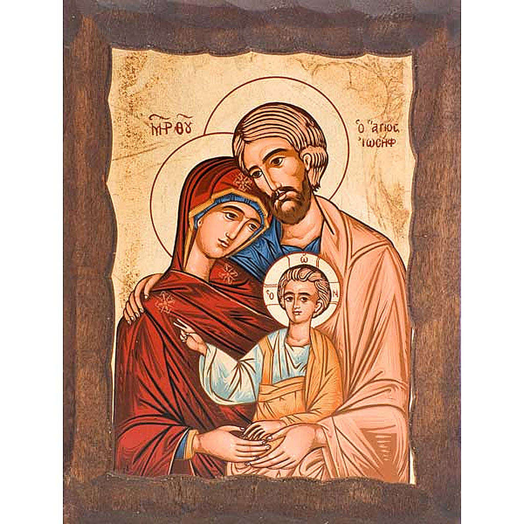 Icona Sacra Famiglia serigrafata greca 4