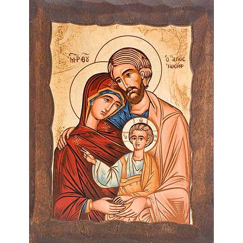 Icona Sacra Famiglia serigrafata greca 1