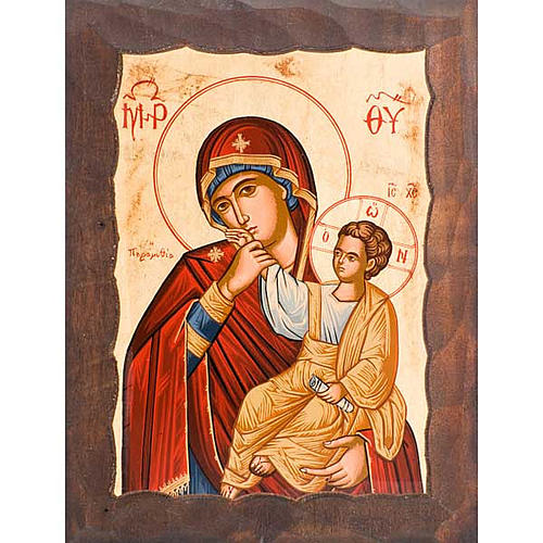 Icona Madre di Dio gioia e sollievo manto rosso1 1