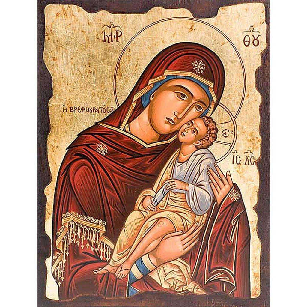 Mother of God Eleousa, red mantle 4