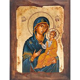 Icona Madre di Dio Odigitria manto blu s1