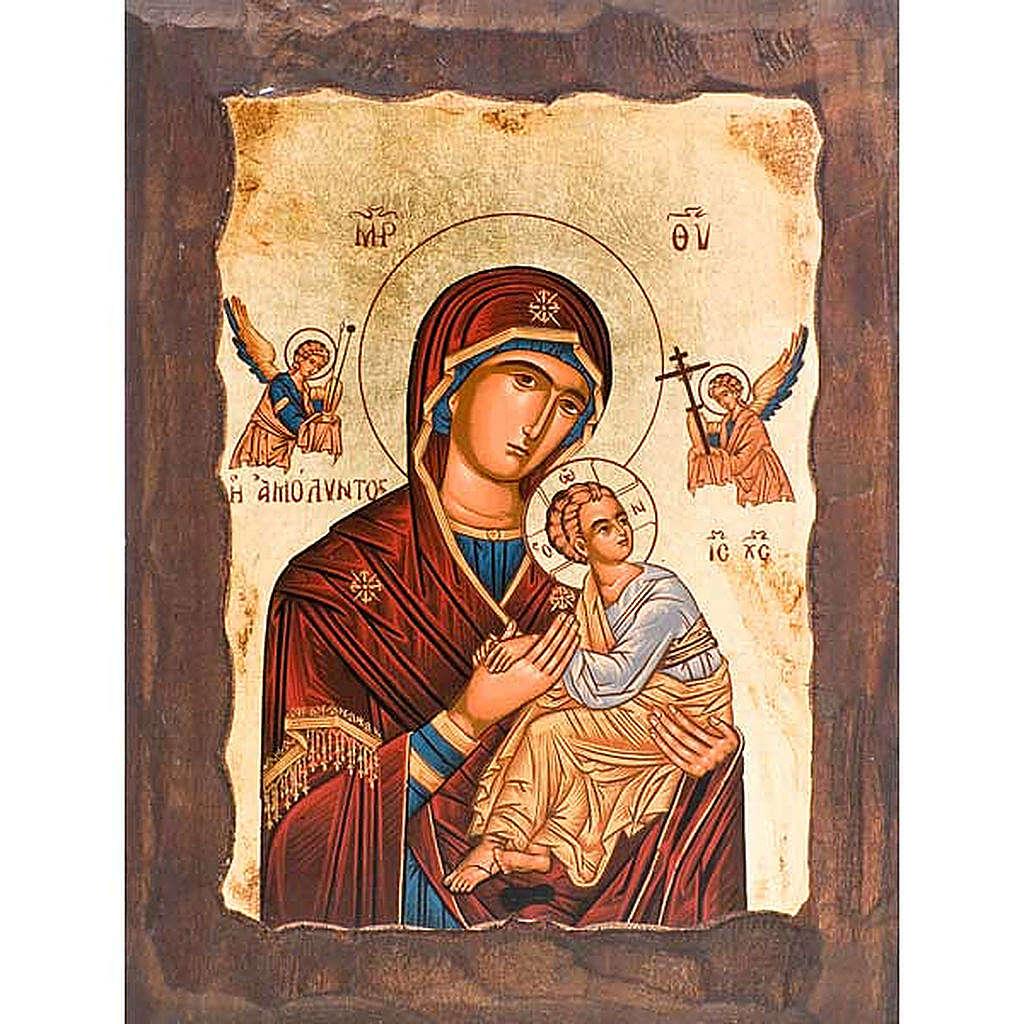 Icona Madre di Dio della passione manto rosso 4