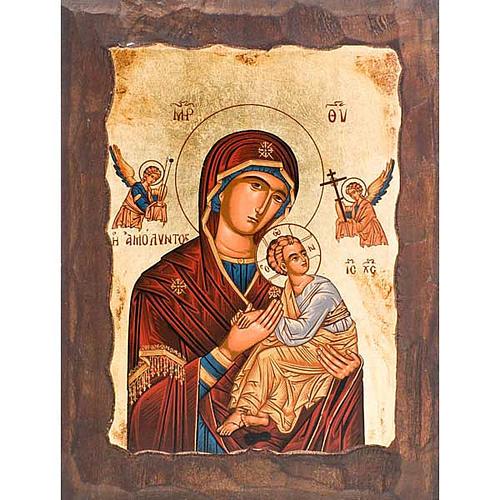 Icona Madre di Dio della passione manto rosso 1
