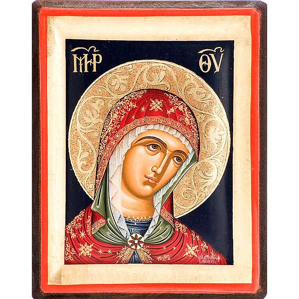 Icona volto di Maria serigrafata Grecia 4