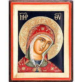 Icona volto di Maria serigrafata Grecia s1