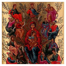 Ícone Árvore de Jessé serigrafia s2