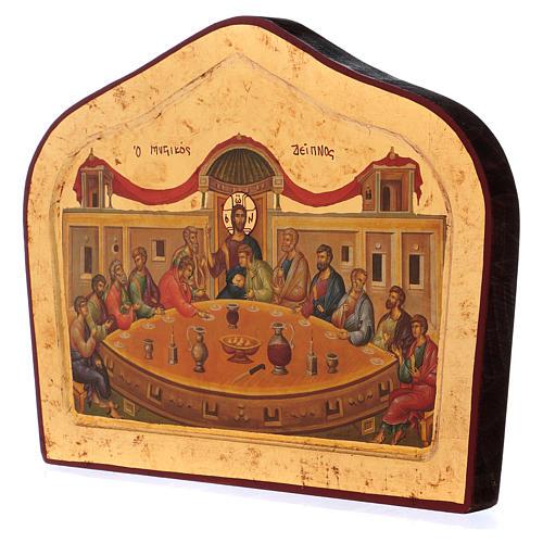 Icona greca Icona Ultima cena sagomata 3