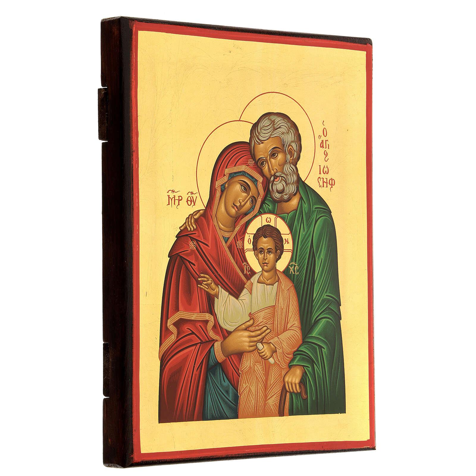 Icône en sérigraphie Sainte famille 4