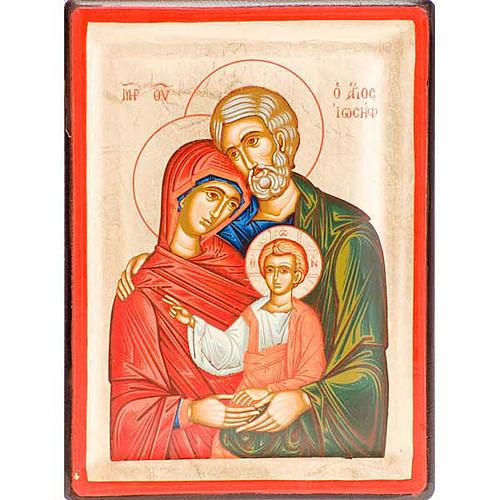 Icona greca serigrafata Sacra Famiglia 1