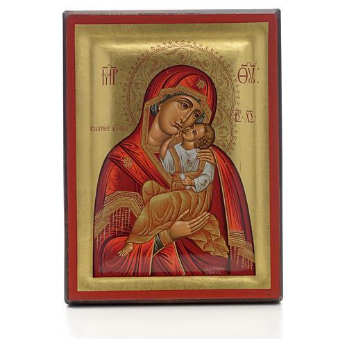 Icona greca serigrafata Vergine Glikofilussa 1
