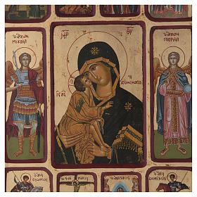 Ícone Vladimirskaya passos da vida de Cristo s2