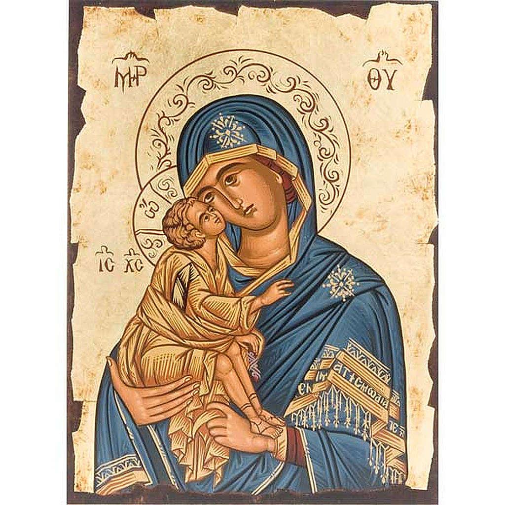 Icona Vergine Tenerezza manto blu Grecia 4