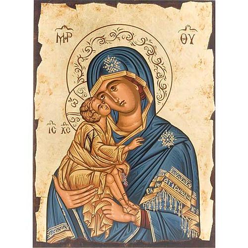 Icona Vergine Tenerezza manto blu Grecia 1