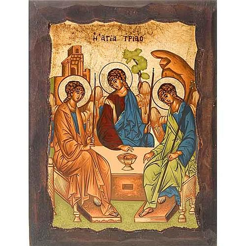Rublev's Icon of the Holy Trinity with engraved edges 1