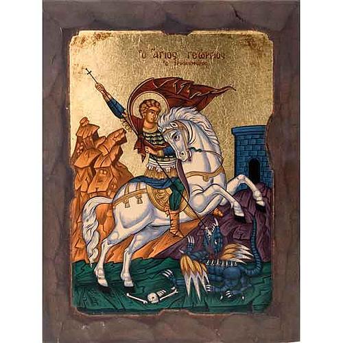 Icona San Giorgio mantello rosso 1