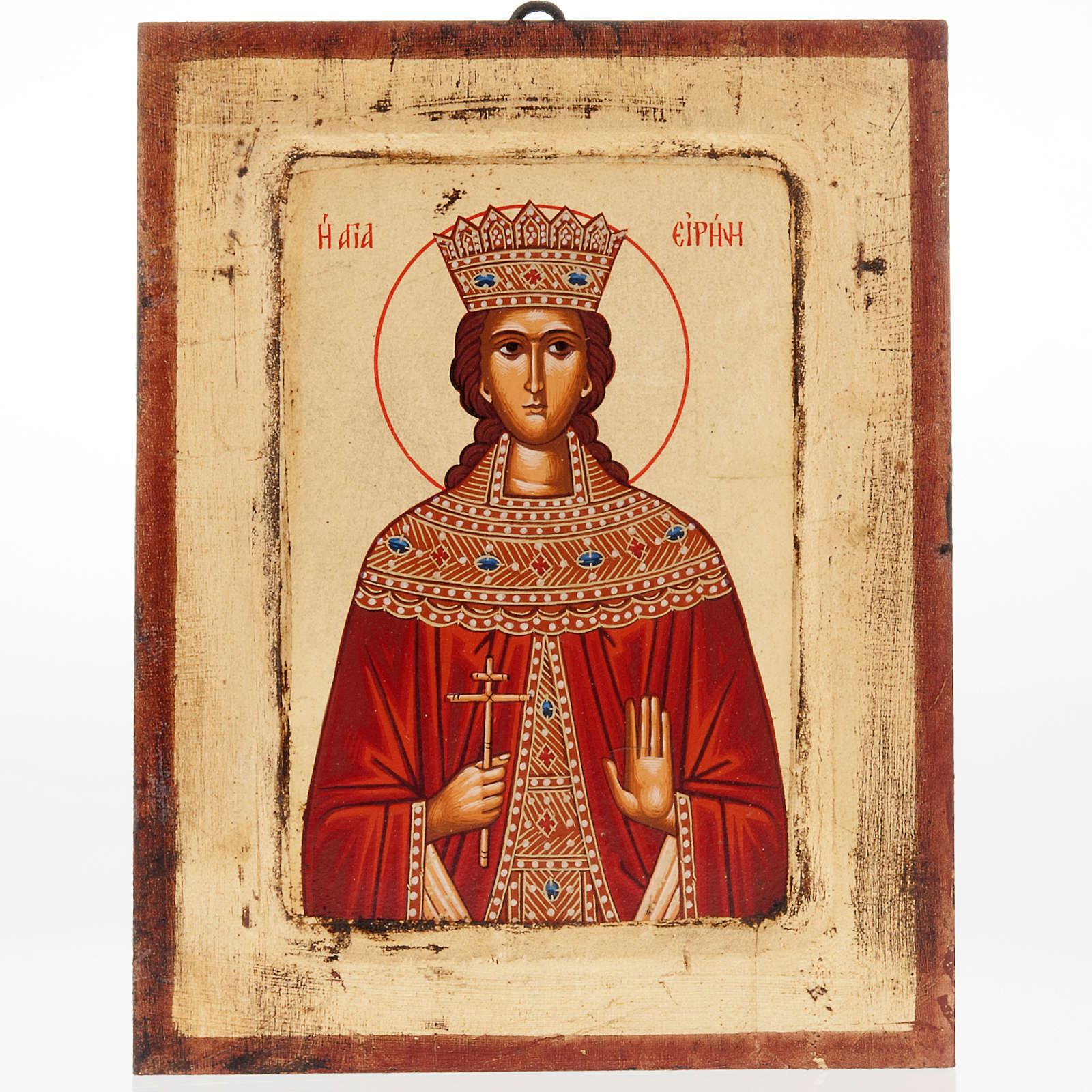 Icona Sant'Irene serigrafata Grecia 4