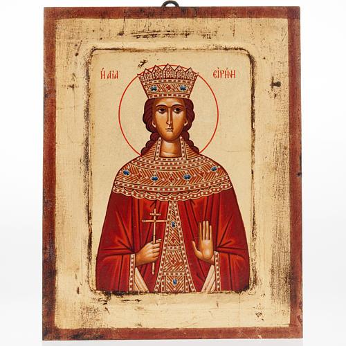 Icona Sant'Irene serigrafata Grecia 1