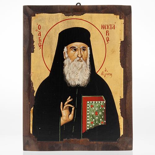 Icona San Nettario serigrafata Grecia 1