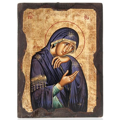 Icona Madonna Addolorata serigrafata Grecia 1