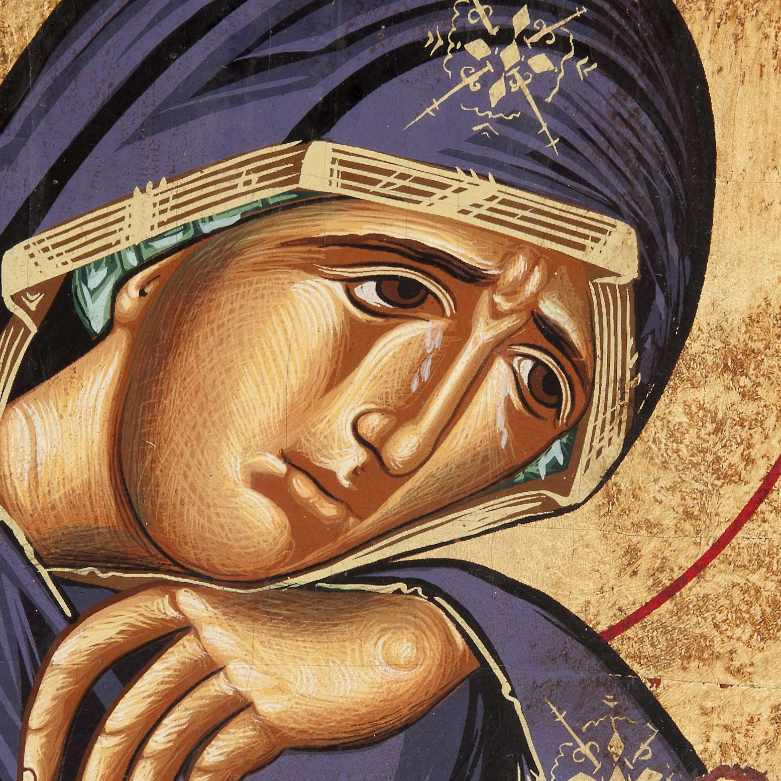 Our Lady of Sorrows icon, Greece, silkscreen printing 4