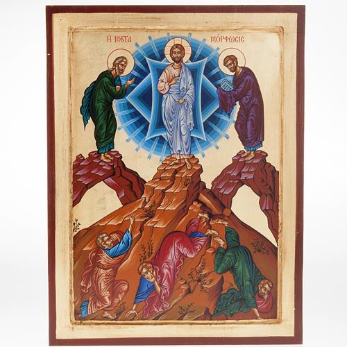 Icona Grecia serigrafata Trasfigurazione del Signore 1