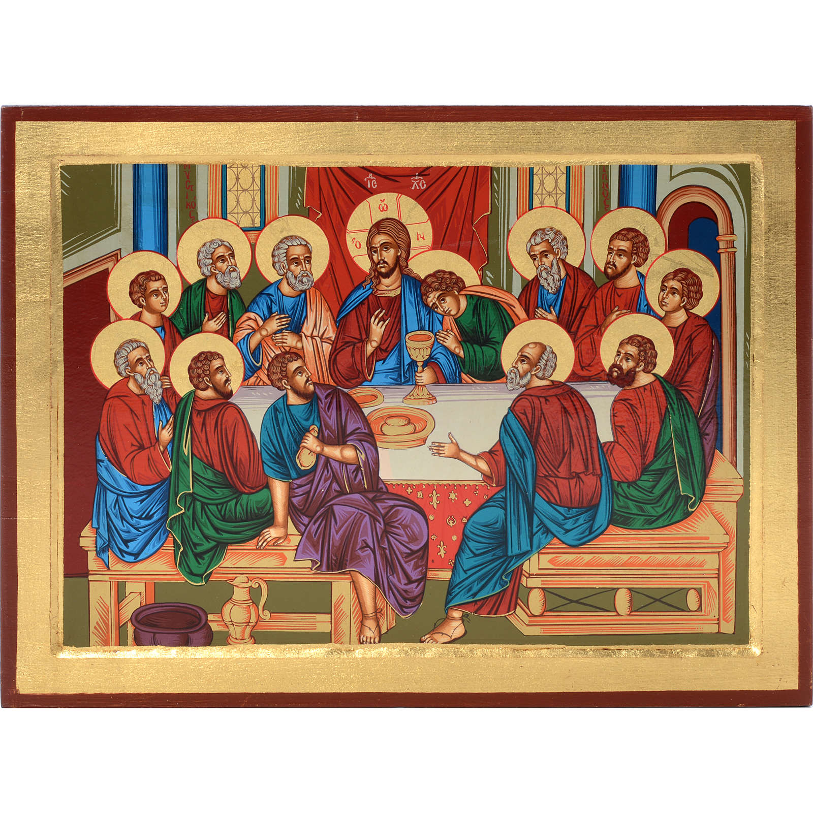 Icona Grecia serigrafata Ultima cena bizantina 4