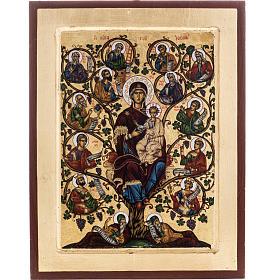 Icona Grecia serigrafia Albero di Jesse 31x24 s1